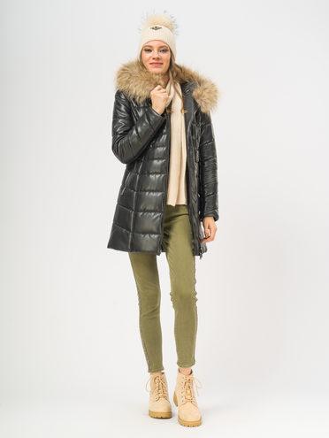 Кожаное пальто эко-кожа 100% П/А, цвет черный, арт. 18108906  - цена 5590 руб.  - магазин TOTOGROUP