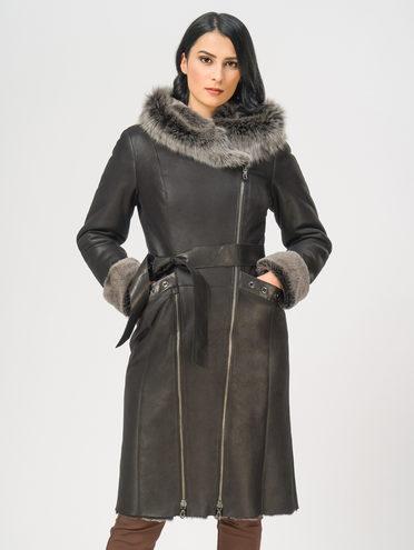 Дубленка дуб. овчина, цвет черный, арт. 18108909  - цена 37990 руб.  - магазин TOTOGROUP
