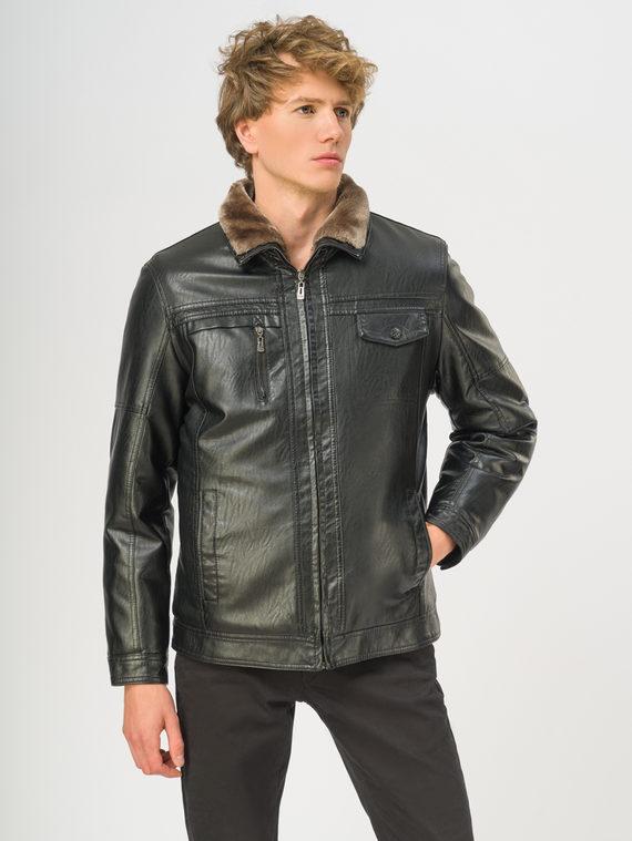 Кожаная куртка эко-кожа 100% П/А, цвет черный, арт. 18108923  - цена 2990 руб.  - магазин TOTOGROUP