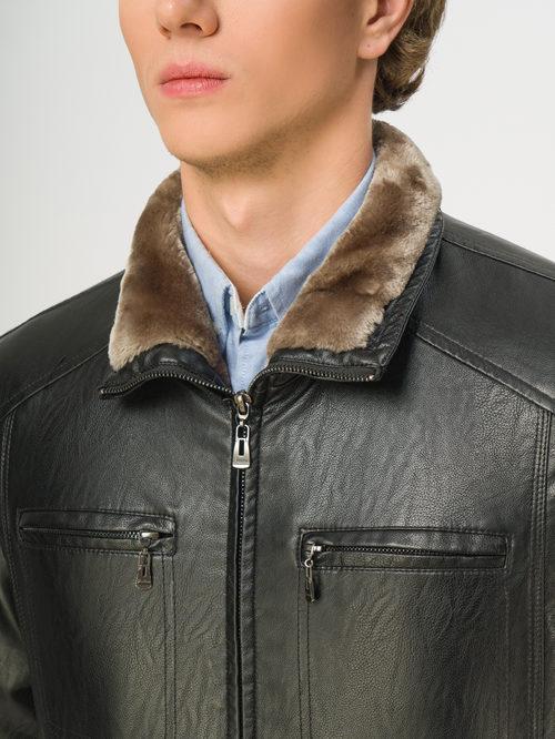 Кожаная куртка артикул 18108925/46 - фото 4