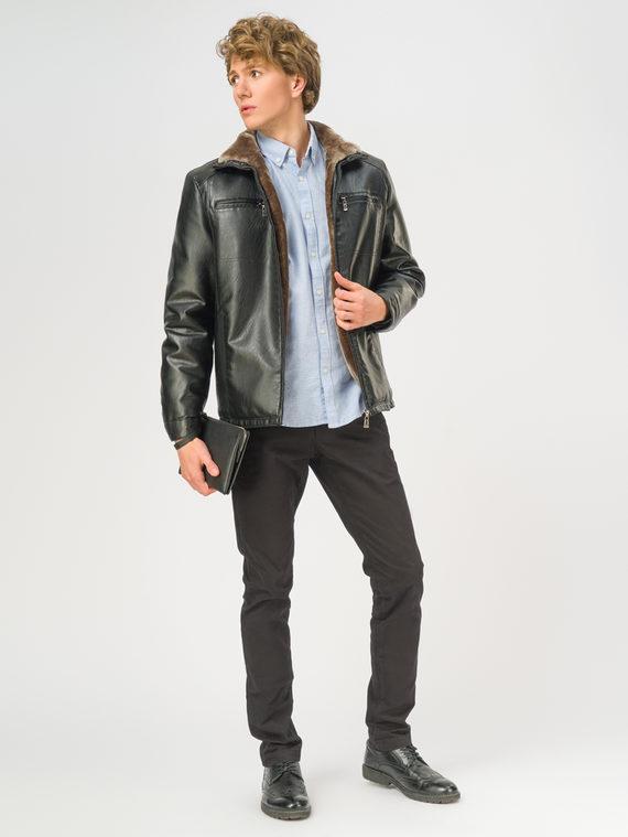 Кожаная куртка эко-кожа 100% П/А, цвет черный, арт. 18108925  - цена 4990 руб.  - магазин TOTOGROUP