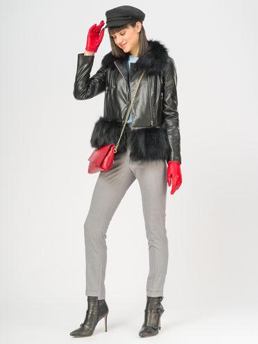 Кожаная куртка эко-кожа 100% П/А, цвет черный, арт. 18108934  - цена 16990 руб.  - магазин TOTOGROUP
