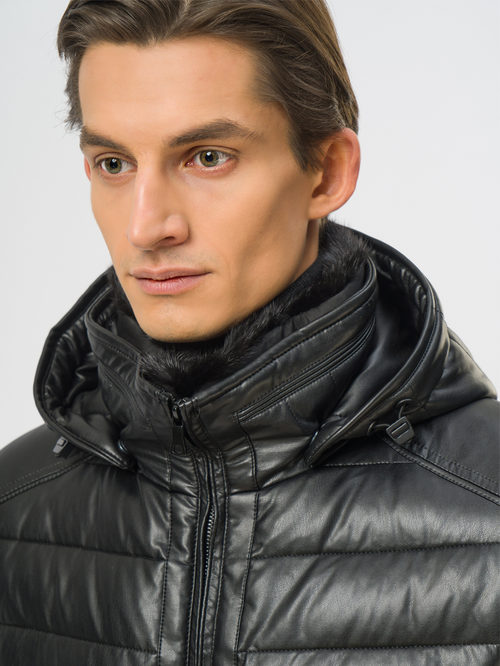 Кожаная куртка артикул 18108961/48 - фото 4
