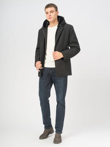 Текстильное пальто 49% шерсть, 51% п.э, цвет черный, арт. 18108967  - цена 7490 руб.  - магазин TOTOGROUP