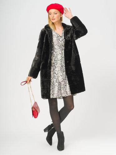 Шуба мех овчина крашен., цвет черный, арт. 18108976  - цена 33990 руб.  - магазин TOTOGROUP
