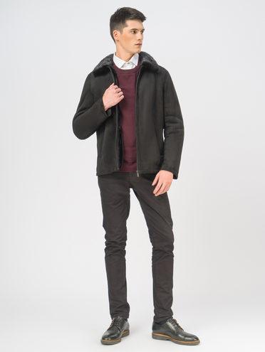 Кожаная куртка эко-замша 100% П/А, цвет черный, арт. 18109010  - цена 9490 руб.  - магазин TOTOGROUP