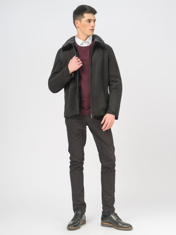 Кожаная куртка эко-замша 100% П/А, цвет черный, арт. 18109010  - цена 13390 руб.  - магазин TOTOGROUP