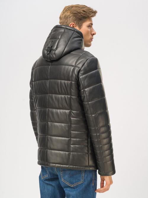 Кожаная куртка артикул 18109015/46 - фото 3