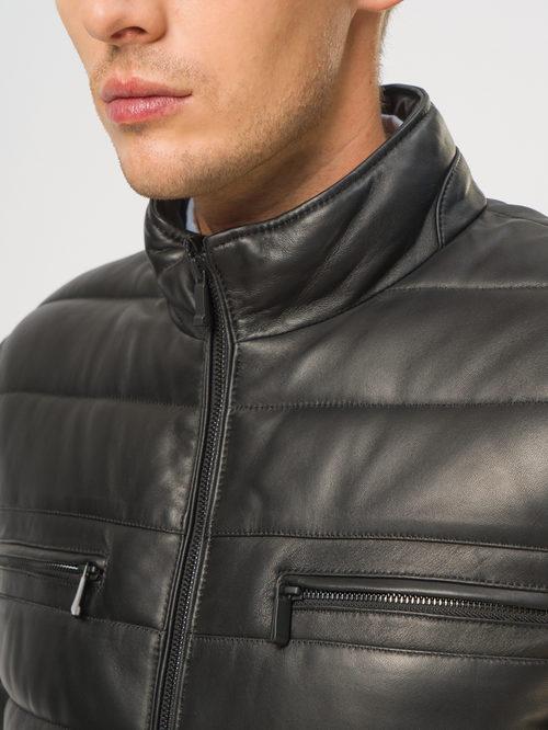 Кожаная куртка артикул 18109016/46 - фото 4