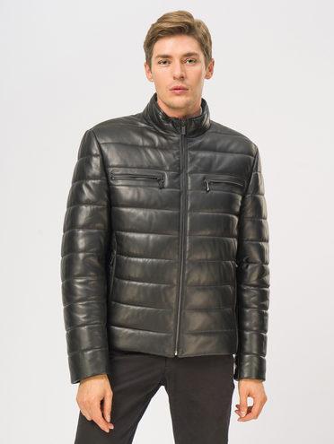 Кожаная куртка кожа баран, цвет черный, арт. 18109016  - цена 18990 руб.  - магазин TOTOGROUP