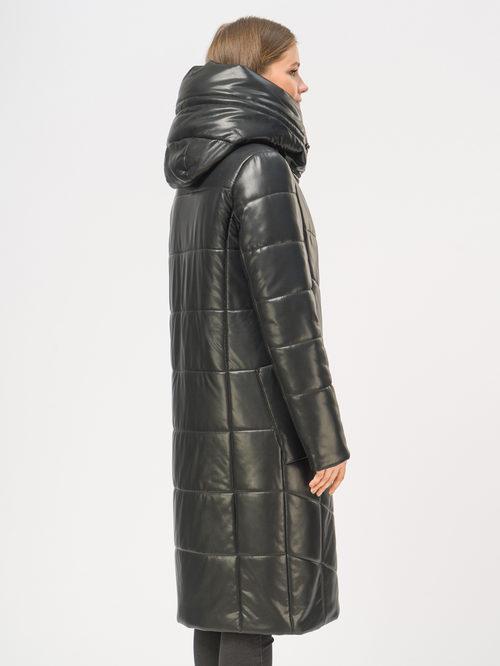 Кожаное пальто артикул 18109019/48 - фото 3