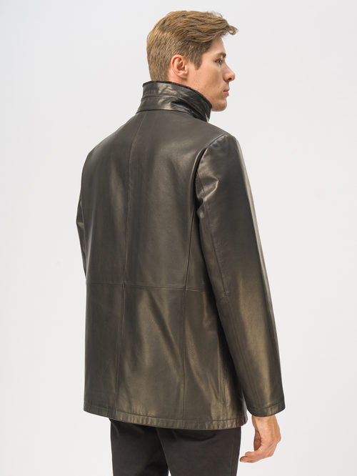 Кожаная куртка артикул 18109028/46 - фото 3