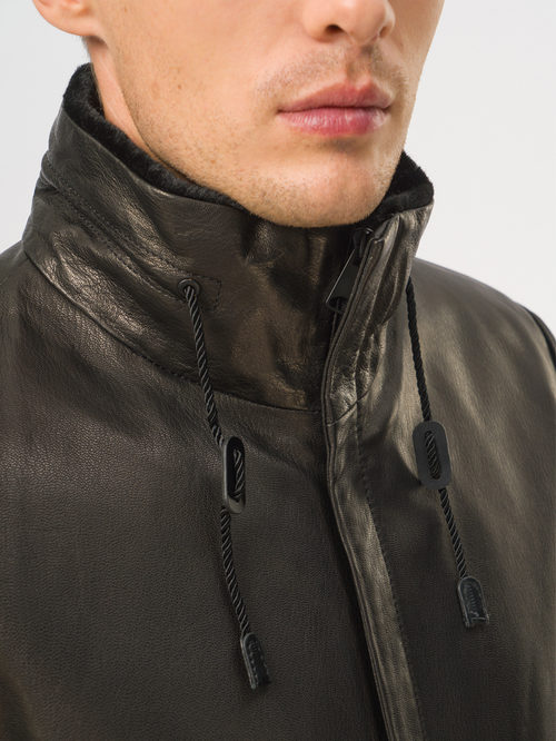 Кожаная куртка артикул 18109028/46 - фото 4