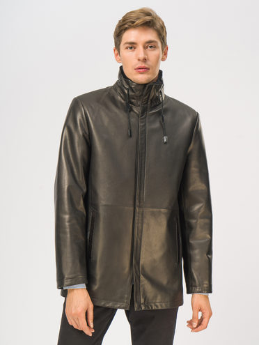 Кожаная куртка кожа баран, цвет черный, арт. 18109028  - цена 23990 руб.  - магазин TOTOGROUP