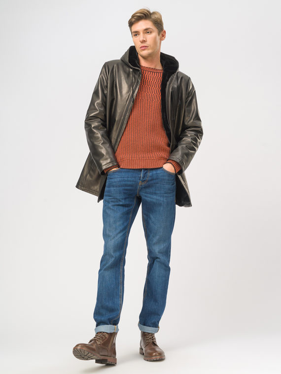 Кожаная куртка кожа баран, цвет черный, арт. 18109029  - цена 21290 руб.  - магазин TOTOGROUP