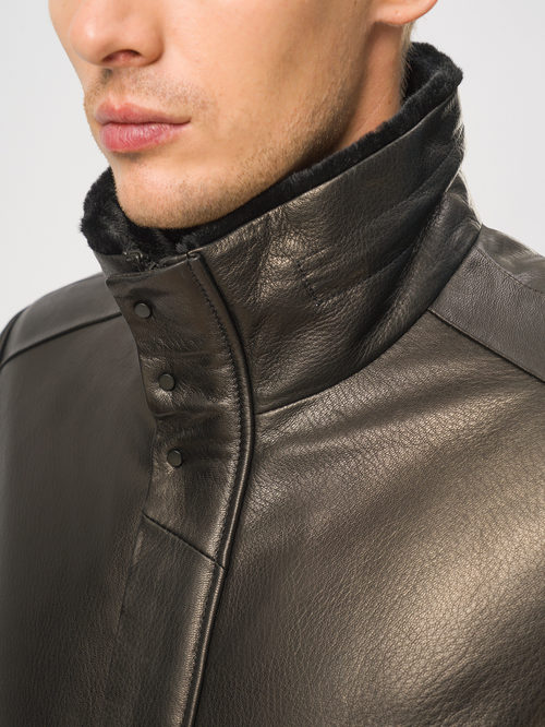 Кожаная куртка артикул 18109030/46 - фото 4