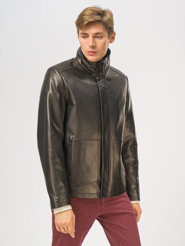 Кожаная куртка кожа баран, цвет черный, арт. 18109030  - цена 23990 руб.  - магазин TOTOGROUP
