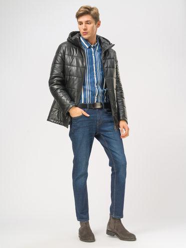Кожаная куртка эко-кожа 100% П/А, цвет черный, арт. 18109044  - цена 5890 руб.  - магазин TOTOGROUP