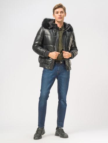 Кожаная куртка эко-кожа 100% П/А, цвет черный, арт. 18109046  - цена 9990 руб.  - магазин TOTOGROUP