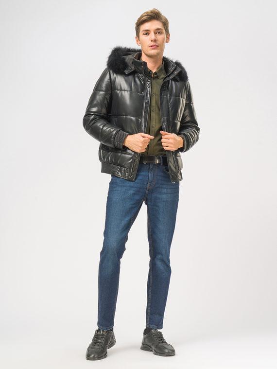 Кожаная куртка эко-кожа 100% П/А, цвет черный, арт. 18109046  - цена 8990 руб.  - магазин TOTOGROUP