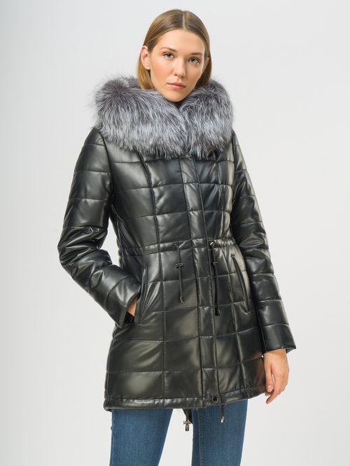 Кожаное пальто артикул 18109050/42 - фото 2