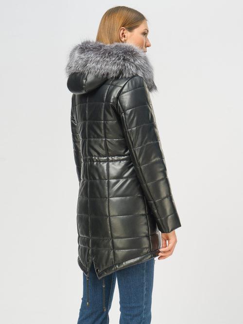 Кожаное пальто артикул 18109050/42 - фото 3