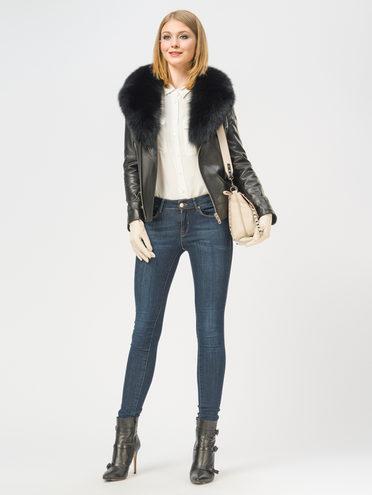 Кожаная куртка кожа баран, цвет черный, арт. 18109065  - цена 21290 руб.  - магазин TOTOGROUP