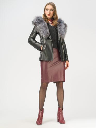 Кожаная куртка кожа баран, цвет черный, арт. 18109068  - цена 23990 руб.  - магазин TOTOGROUP