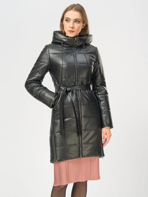 Кожаное пальто артикул 18109078/40 - фото 2