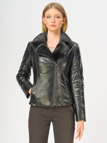 Кожаная куртка эко-кожа 100% П/А, цвет черный, арт. 18109079  - цена 9990 руб.  - магазин TOTOGROUP