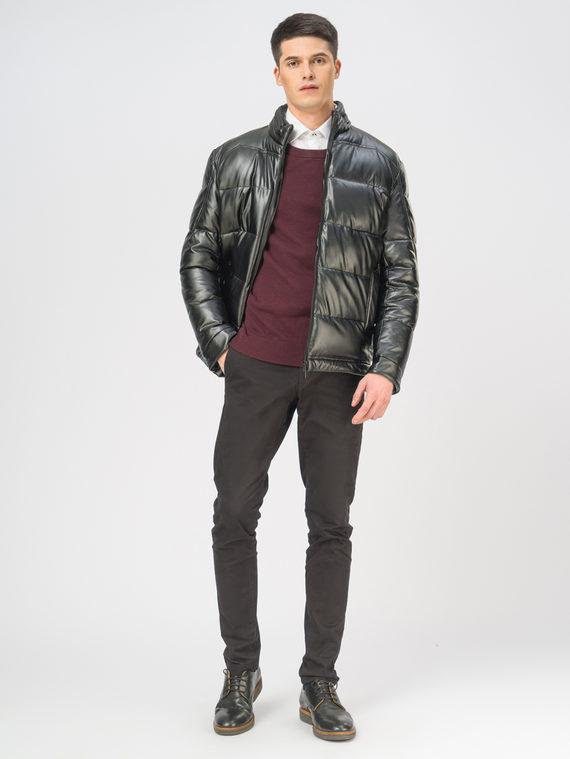 Кожаная куртка эко-кожа 100% П/А, цвет черный, арт. 18109081  - цена 3790 руб.  - магазин TOTOGROUP