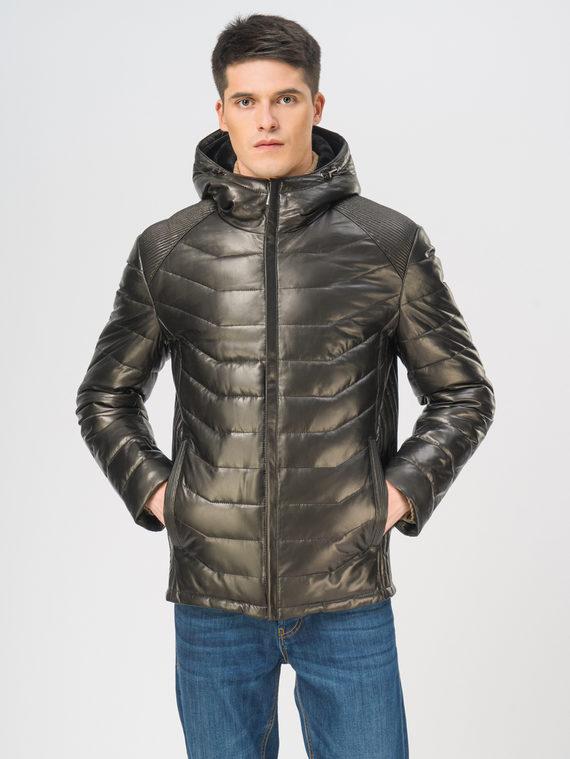 Кожаная куртка кожа, цвет черный, арт. 18109099  - цена 19990 руб.  - магазин TOTOGROUP