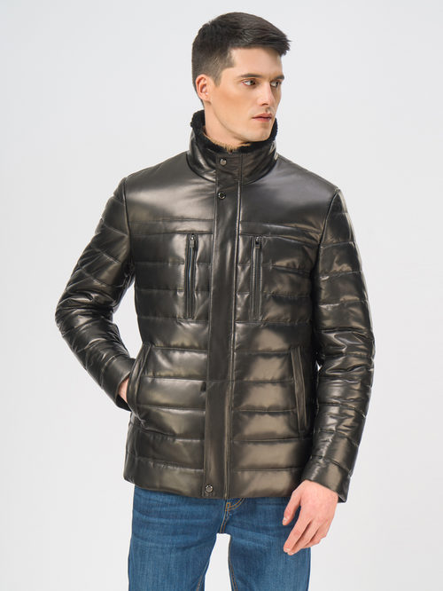 Кожаная куртка артикул 18109100/50 - фото 2