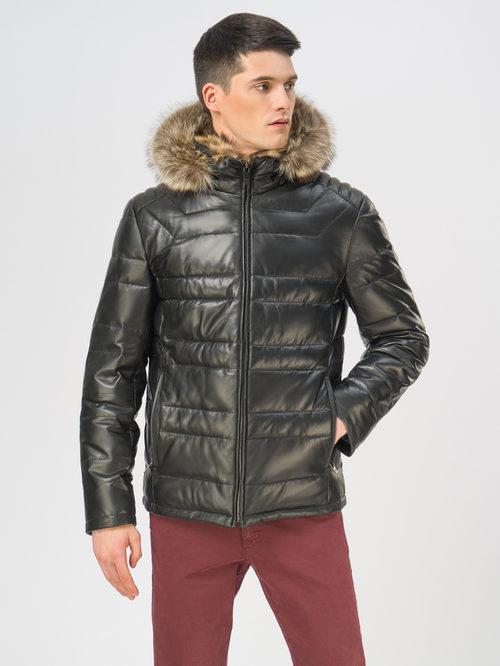 Кожаная куртка артикул 18109101/46 - фото 2