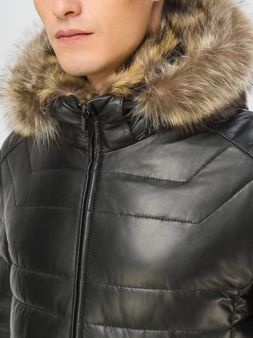 Кожаная куртка артикул 18109101/46 - фото 4