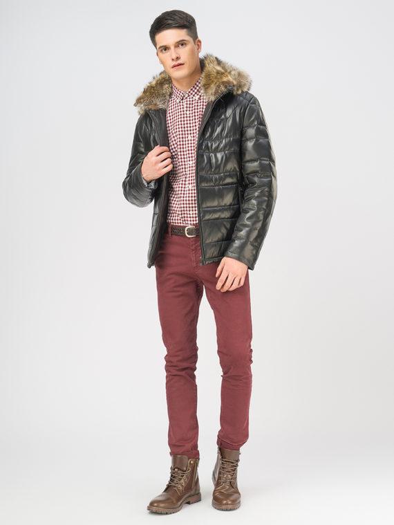 Кожаная куртка кожа, цвет черный, арт. 18109101  - цена 22690 руб.  - магазин TOTOGROUP