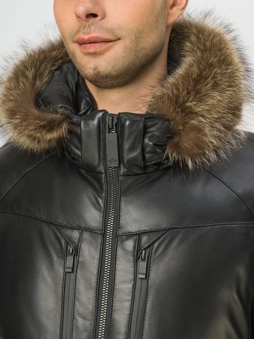 Кожаная куртка артикул 18109102/50 - фото 4