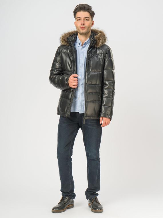 Кожаная куртка кожа , цвет черный, арт. 18109102  - цена 23990 руб.  - магазин TOTOGROUP