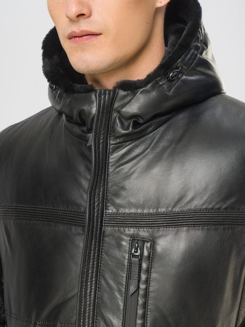 Кожаная куртка артикул 18109106/48 - фото 4