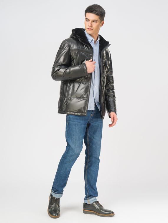 Кожаная куртка кожа, цвет черный, арт. 18109106  - цена 17990 руб.  - магазин TOTOGROUP