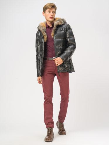 Кожаная куртка кожа, цвет черный, арт. 18109107  - цена 25590 руб.  - магазин TOTOGROUP