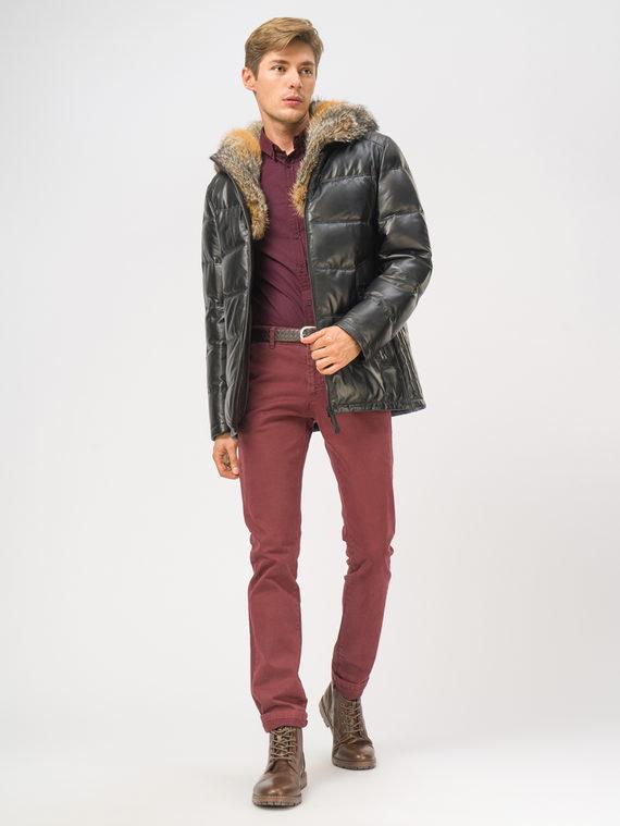 Кожаная куртка кожа, цвет черный, арт. 18109107  - цена 33990 руб.  - магазин TOTOGROUP