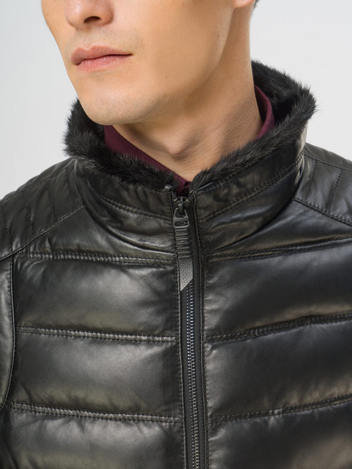 Кожаная куртка артикул 18109108/50 - фото 4
