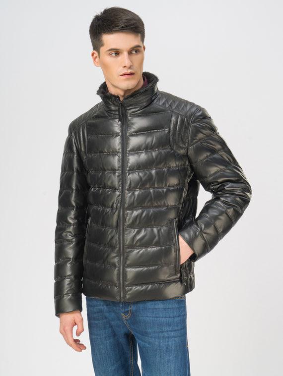 Кожаная куртка кожа, цвет черный, арт. 18109108  - цена 19990 руб.  - магазин TOTOGROUP