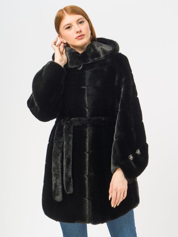 Шуба из эко-меха эко мех 100% П/Э, цвет черный, арт. 18109121  - цена 9490 руб.  - магазин TOTOGROUP