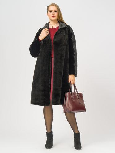 Шуба из эко-меха эко мех 100% П/Э, цвет черный, арт. 18109122  - цена 9990 руб.  - магазин TOTOGROUP