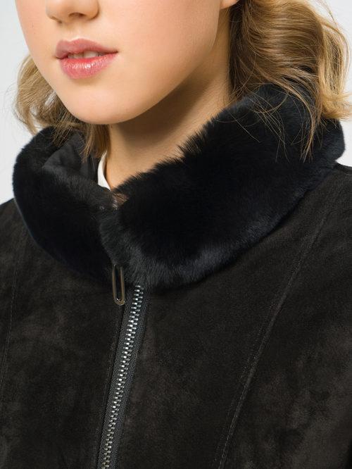 Кожаное пальто артикул 18109139/42 - фото 4