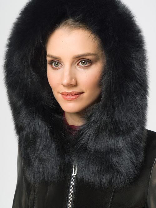 Кожаное пальто артикул 18109140/44 - фото 4