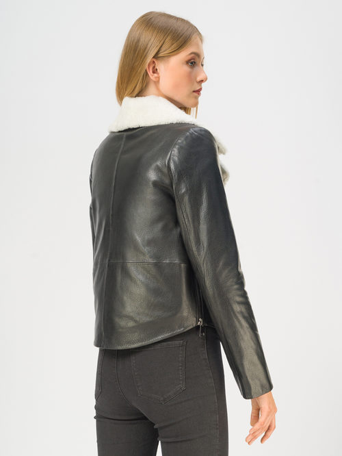 Кожаная куртка артикул 18109141/42 - фото 3