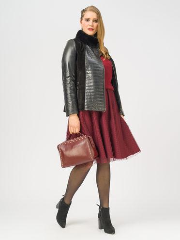Кожаная куртка кожа , цвет черный, арт. 18109143  - цена 17990 руб.  - магазин TOTOGROUP